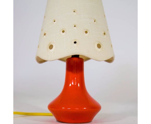 Ceramic table lamp from the 1970s