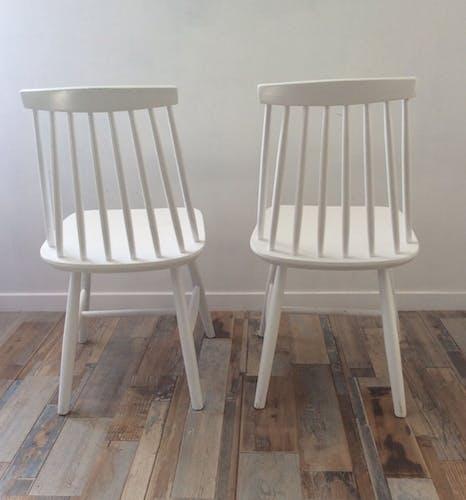 Paire de chaises scandinaves des années 60