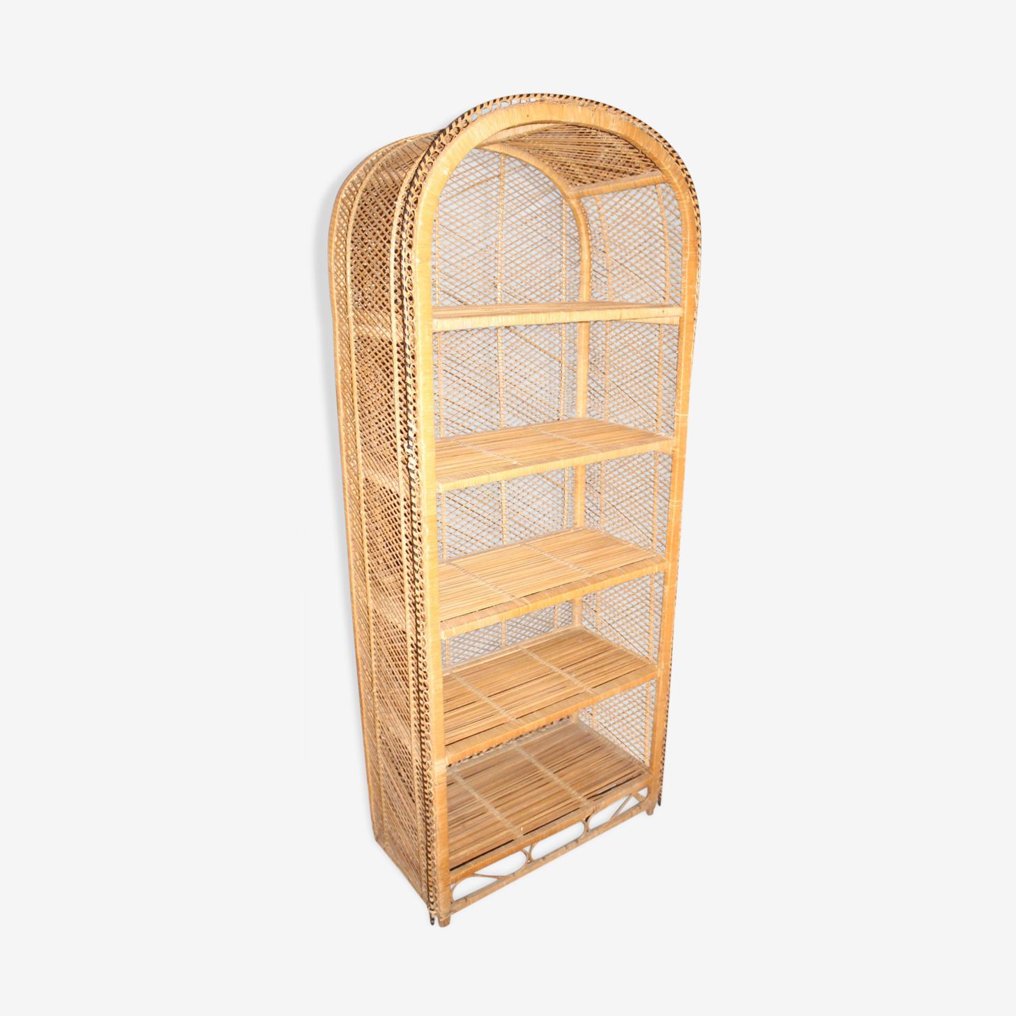 Rattan shelf