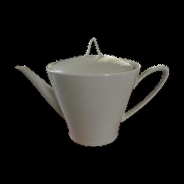 Théière blanche en porcelaine de Limoges