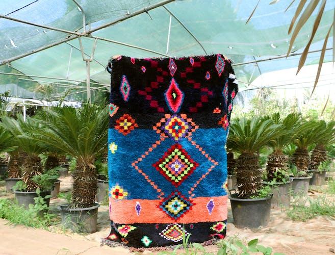 Boujaad style rug set vintage design, name: Life Back 170 cm / 210 cm.