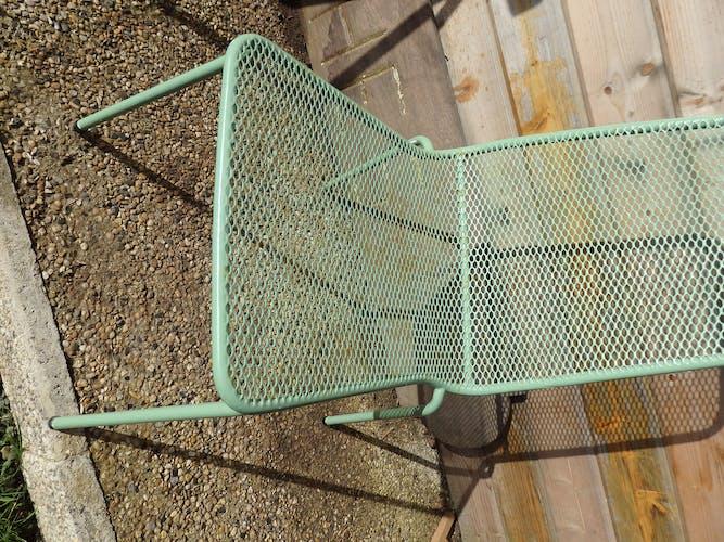 2 chaises de jardin vintage métal