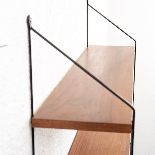 Wall shelf, dark teak 60
