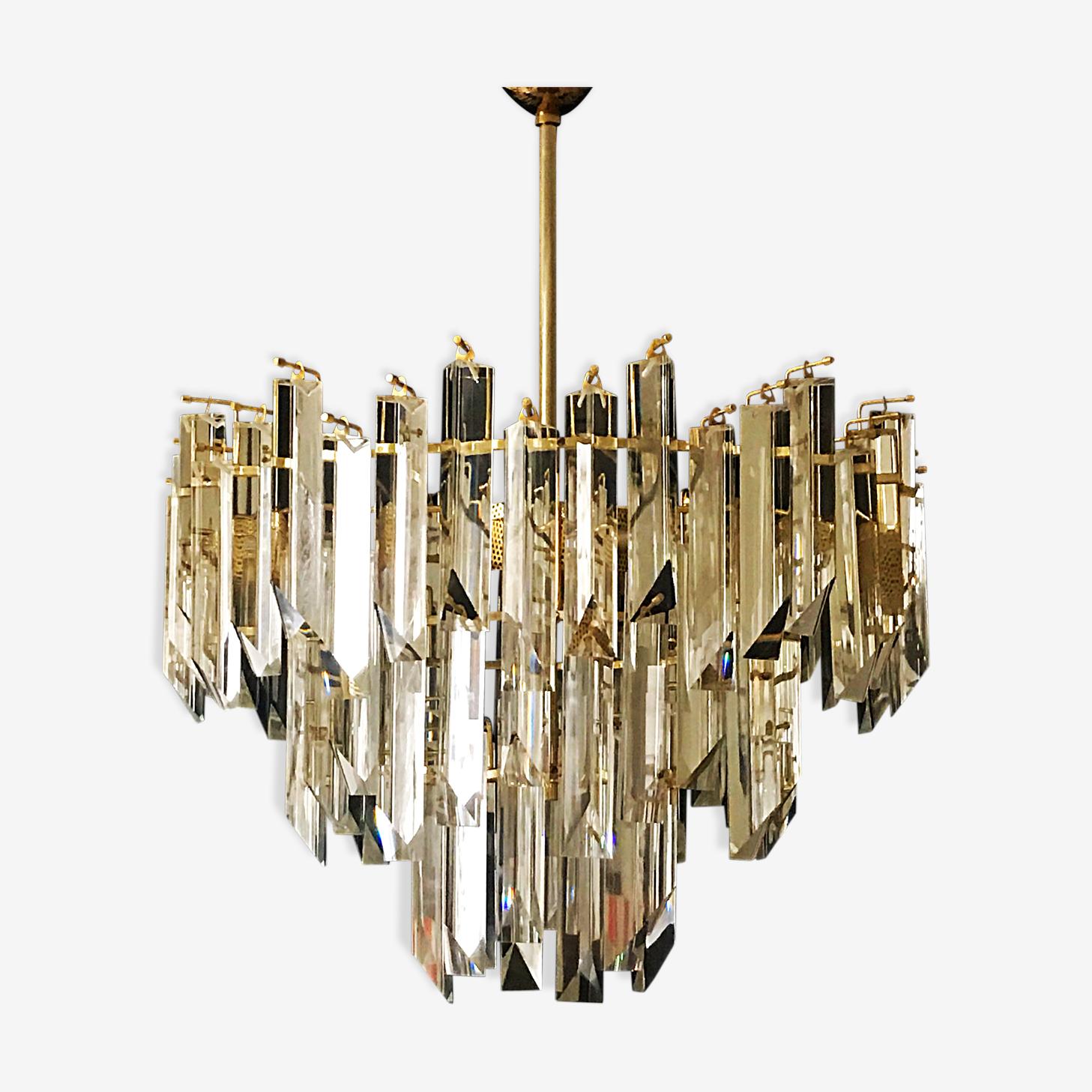 Lustre 3 niveaux de cristal Paolo Venini