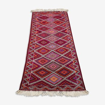 Red carpet, Moroccan Berber carpet, carpet handmade 150x80cm