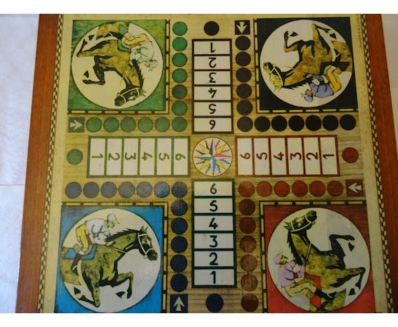 Boite de 4 jeux de société petits chevaux oies