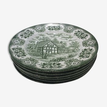 Lot assiettes plates anciennes Old Inns Series