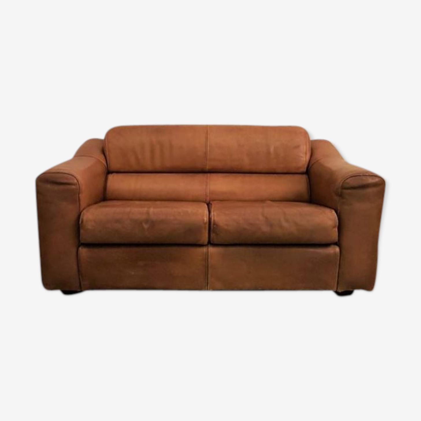 Canapé années 70 en cuir
