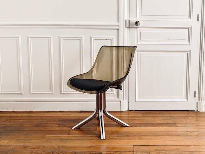 Chaise vintage space age plexiglass