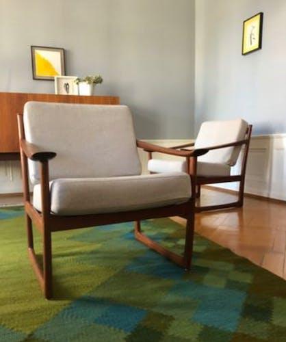 FD130 armchairs by Peter Hvidt & Orla Mølgaard-Nielsen for France & Søn, 1960