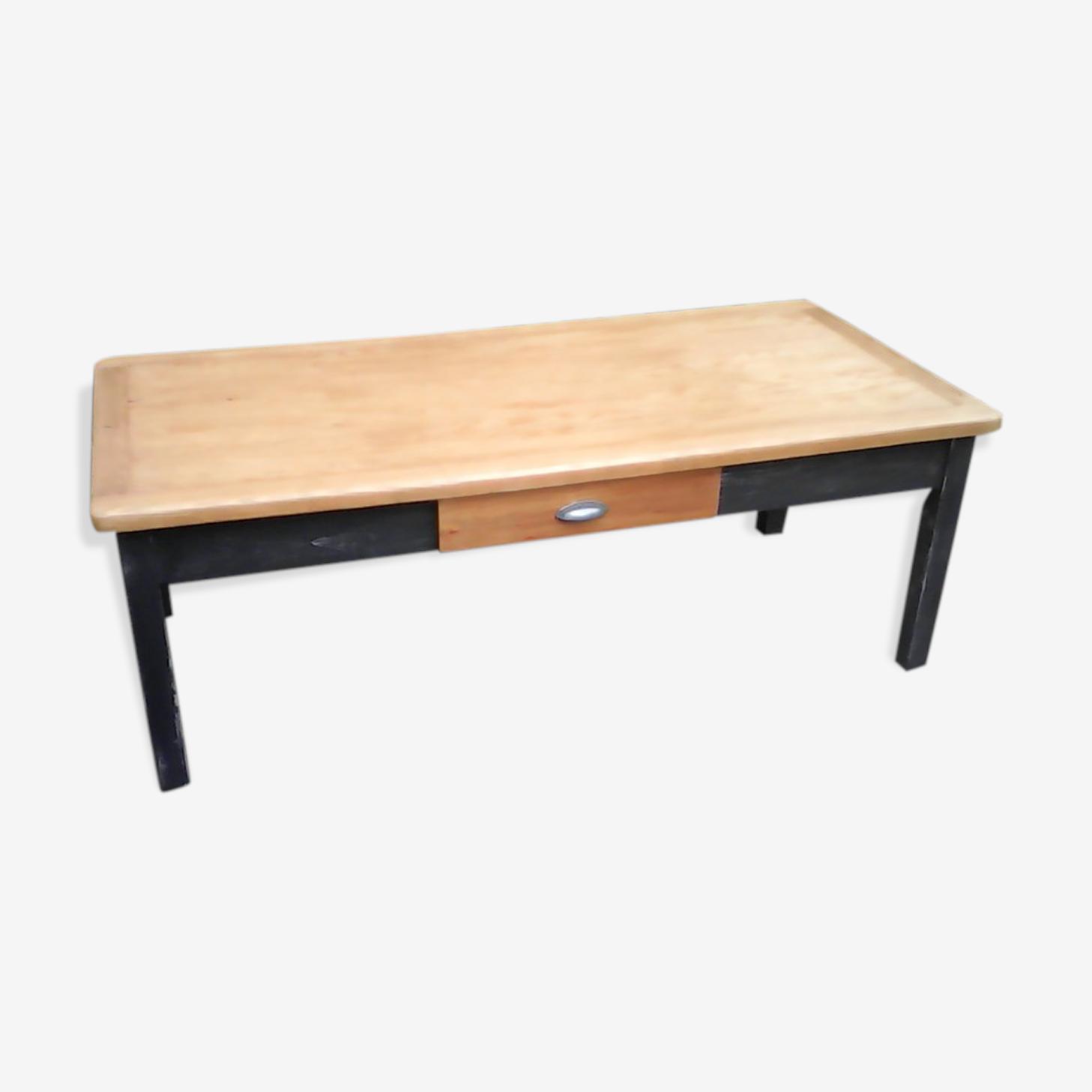 Table basse patinée