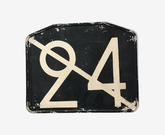 Old bus line plate No. 24 barred