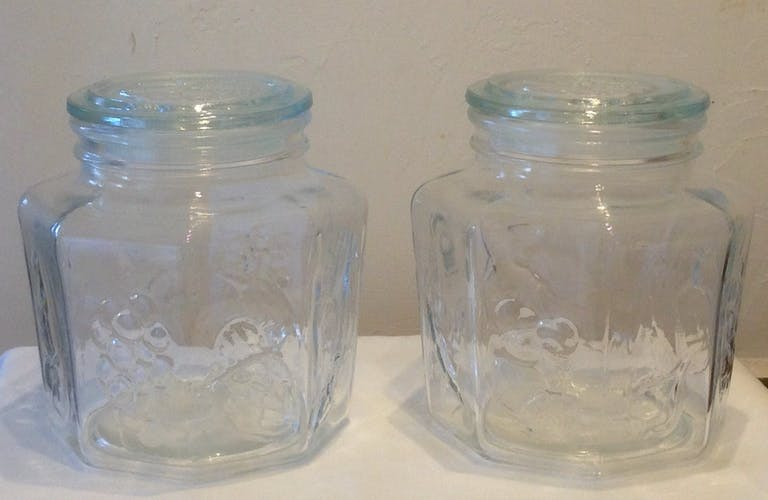 Series of jars fruit emphasis of the 1970s