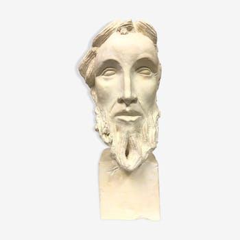 plaster bust old bearded man