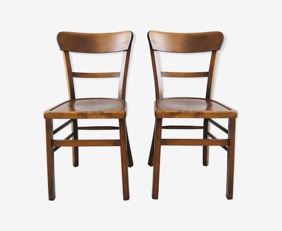 Chaise en bois vintage par Luterma