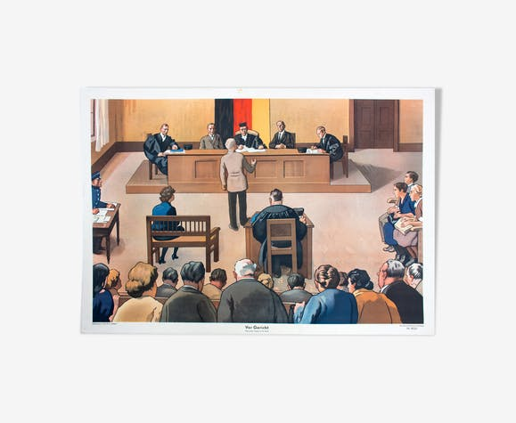 In the Court Educational Poster, Friecke & Co, 1951