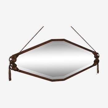 Miroir style art d co d 39 occasion for Miroir en fer forge noir