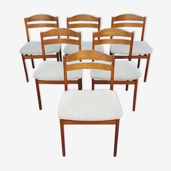 Set of 6 chairs teak Scandinavian