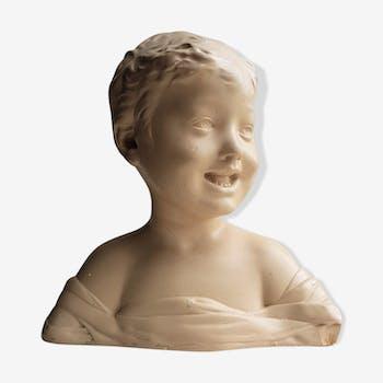 Plaster bust of child