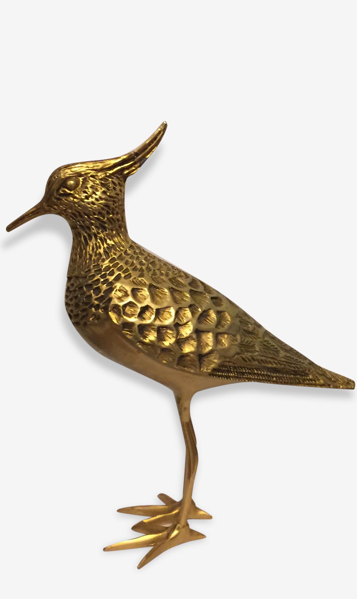 Sculpture oiseau doré