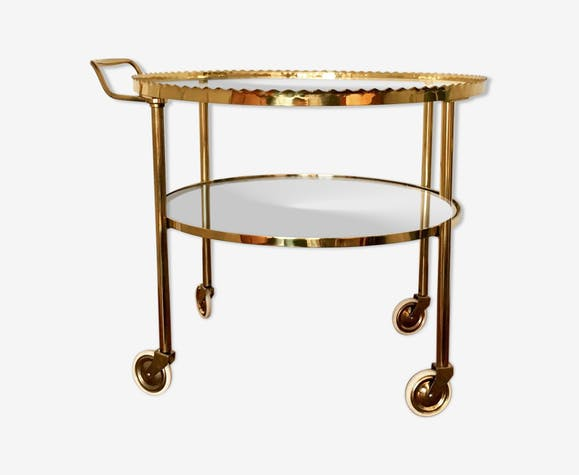 Brass serving table 1950