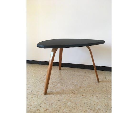 Table basse Bow wood vintage, années 50