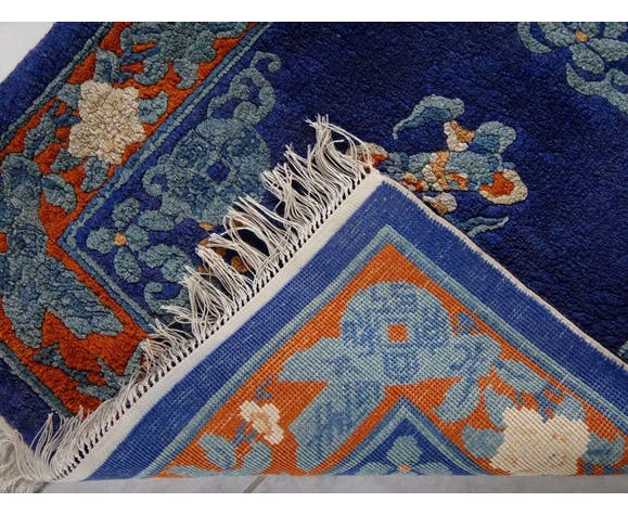 Tapis chinois laine chinese carpet rug mark 120x60cm