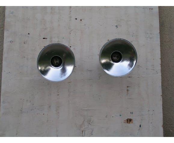 Paire d'appliques spots avec réflecteurs en métal chromé années 70