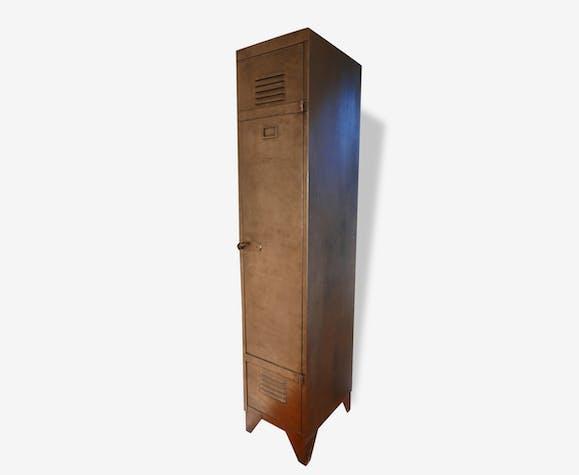 Armoire vestiaire métalique style industriel une porte - métal ...