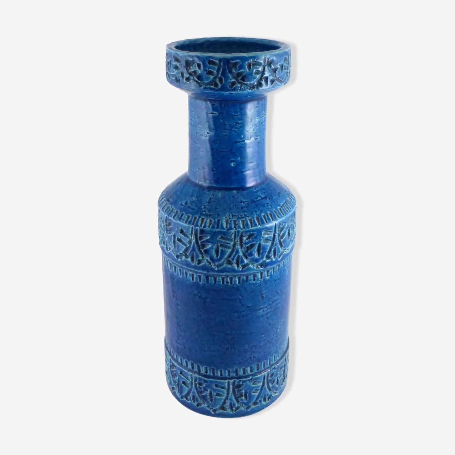 Vase en céramique Bitossi, Aldo Londi série Rimini blu de la fin des années 60