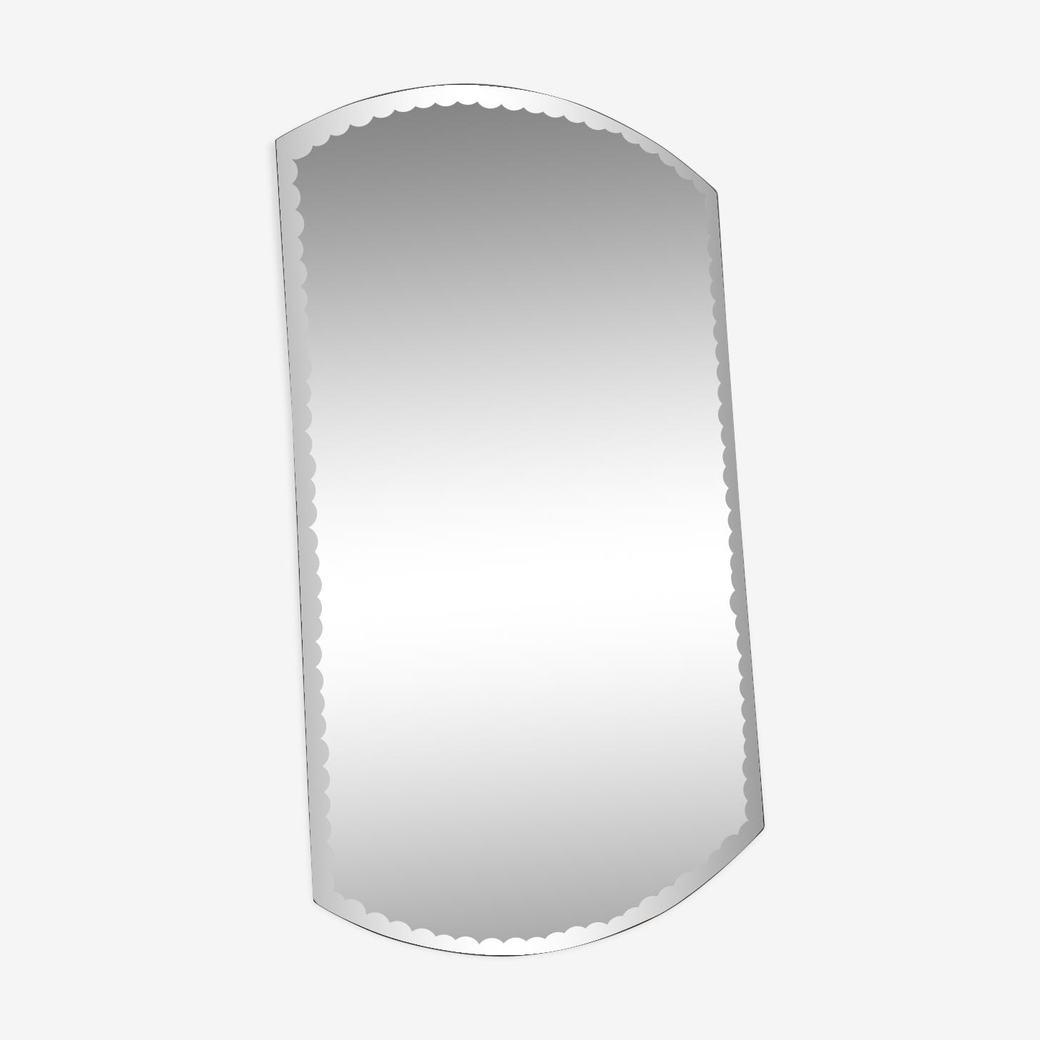 Miroir biseauté vintage 54 x 30 cm
