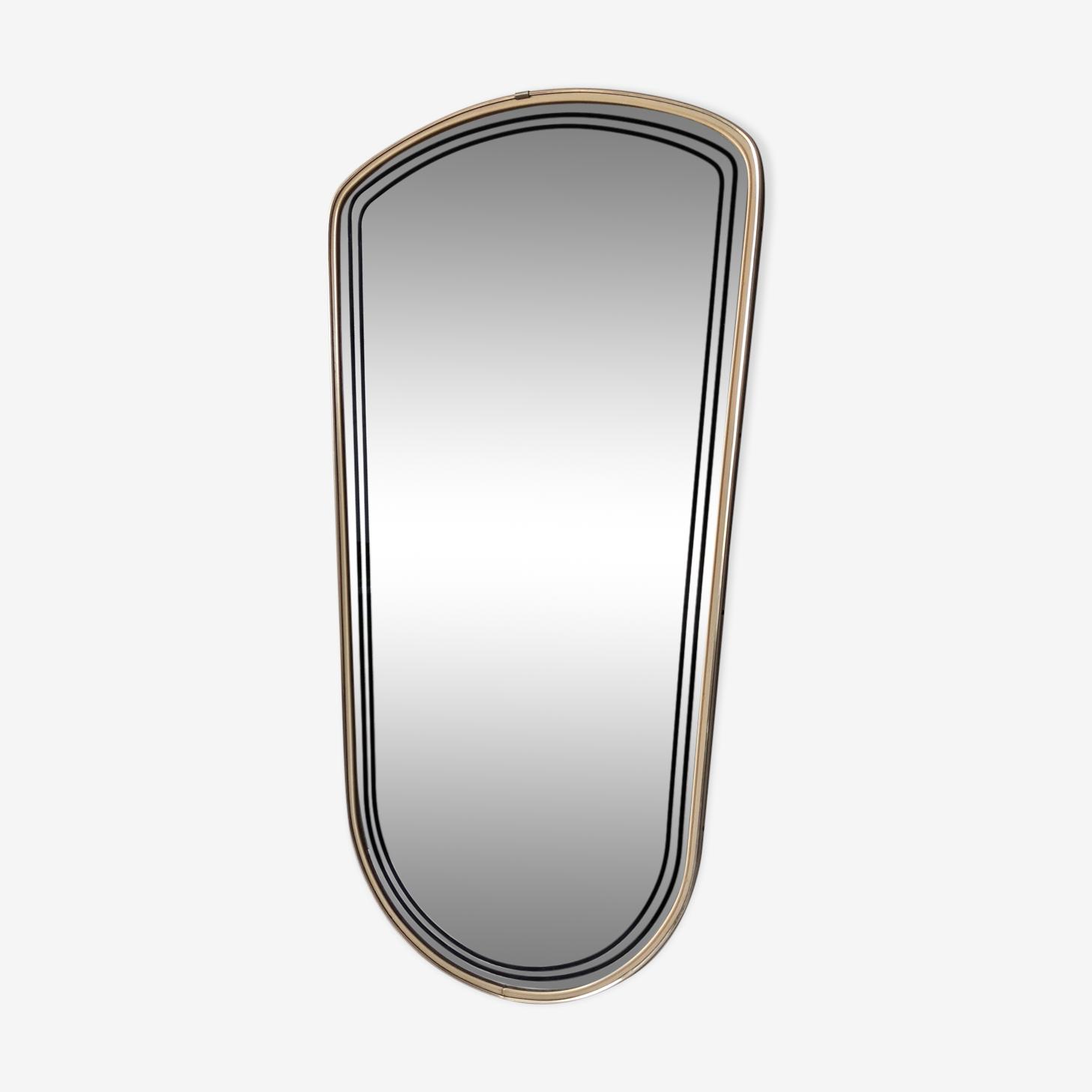Mirror mirror vintage brass 75x38cm