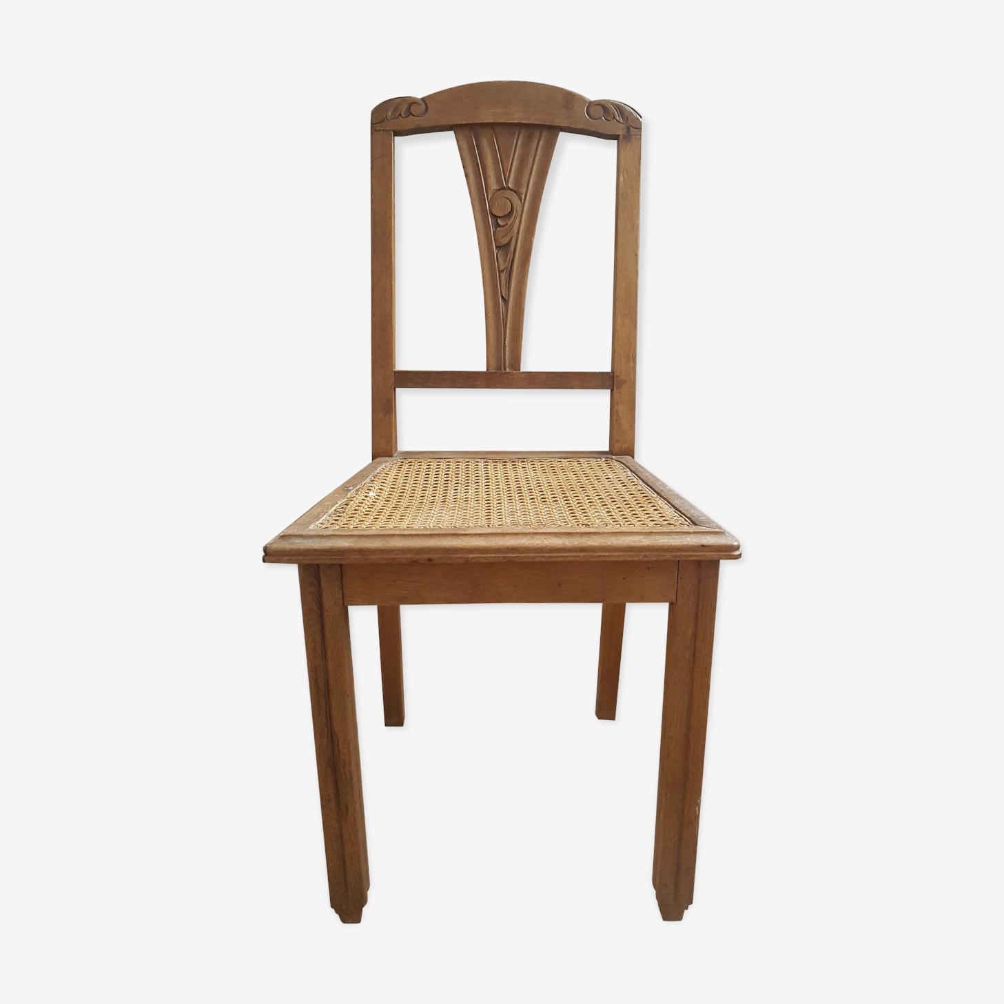 Chaise cannée années 50