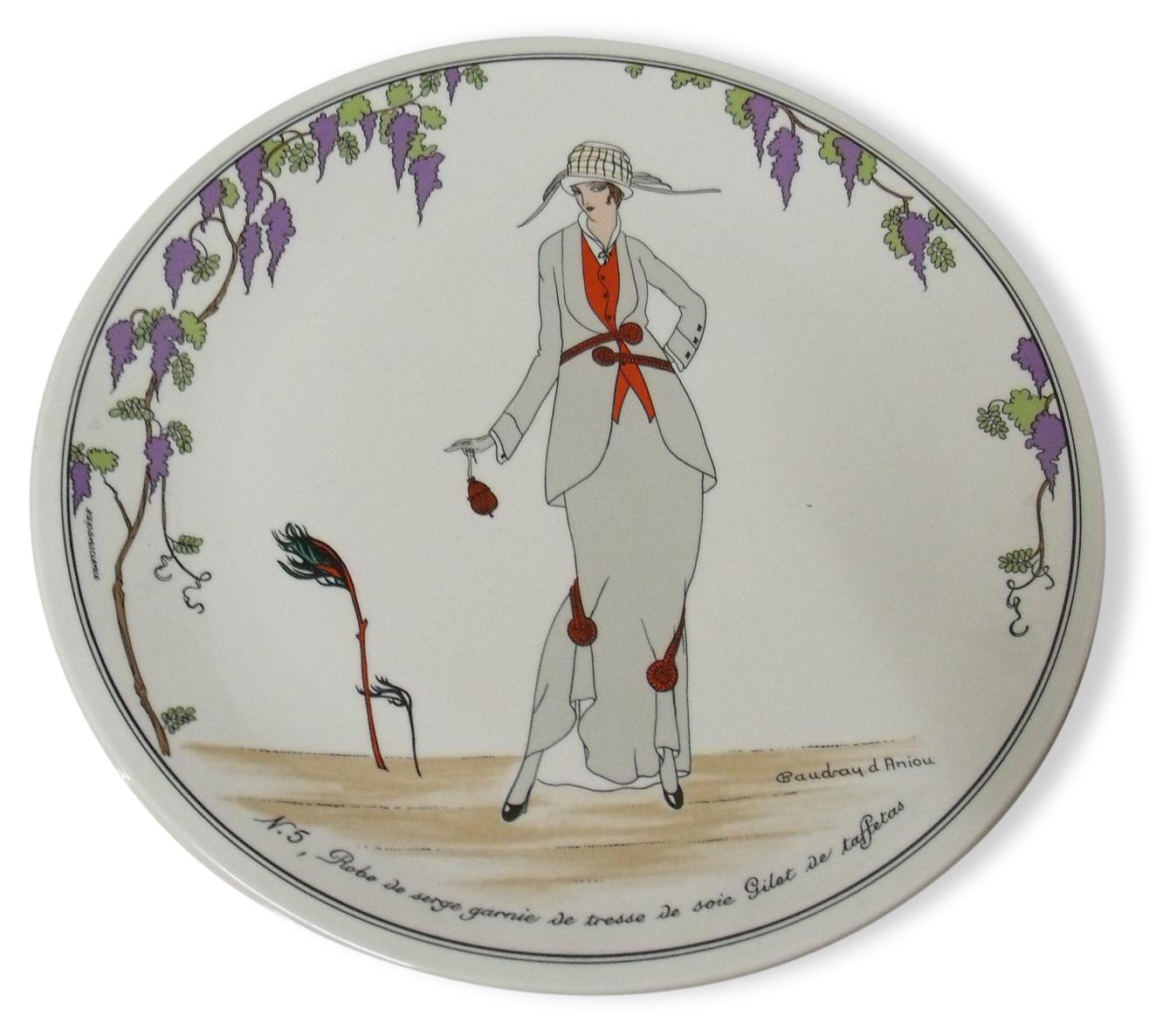 Assiette Collection Mode Design 1900 Gravure Par Villeroy Boch