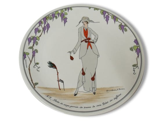 assiette collection mode design 1900 gravure par villeroy boch c ramique porcelaine. Black Bedroom Furniture Sets. Home Design Ideas