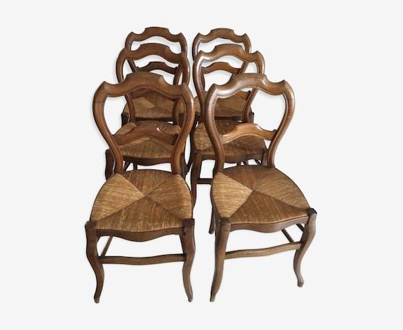 Chaises En Paille Style Louis Philippe