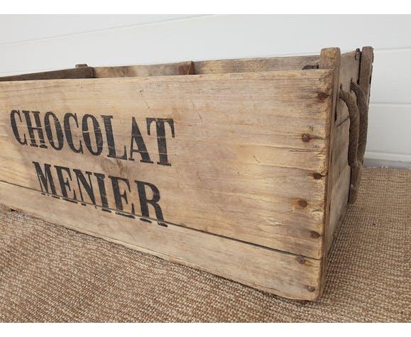 """Caisse publicitaire ancienne """"Chocolat Menier """""""
