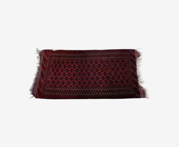 Tapis tekke afghan en laine à franges 215x103cm