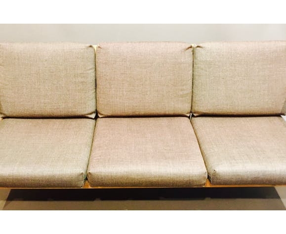 "Sofa 3 places ""Scandinavian design"" 1960."