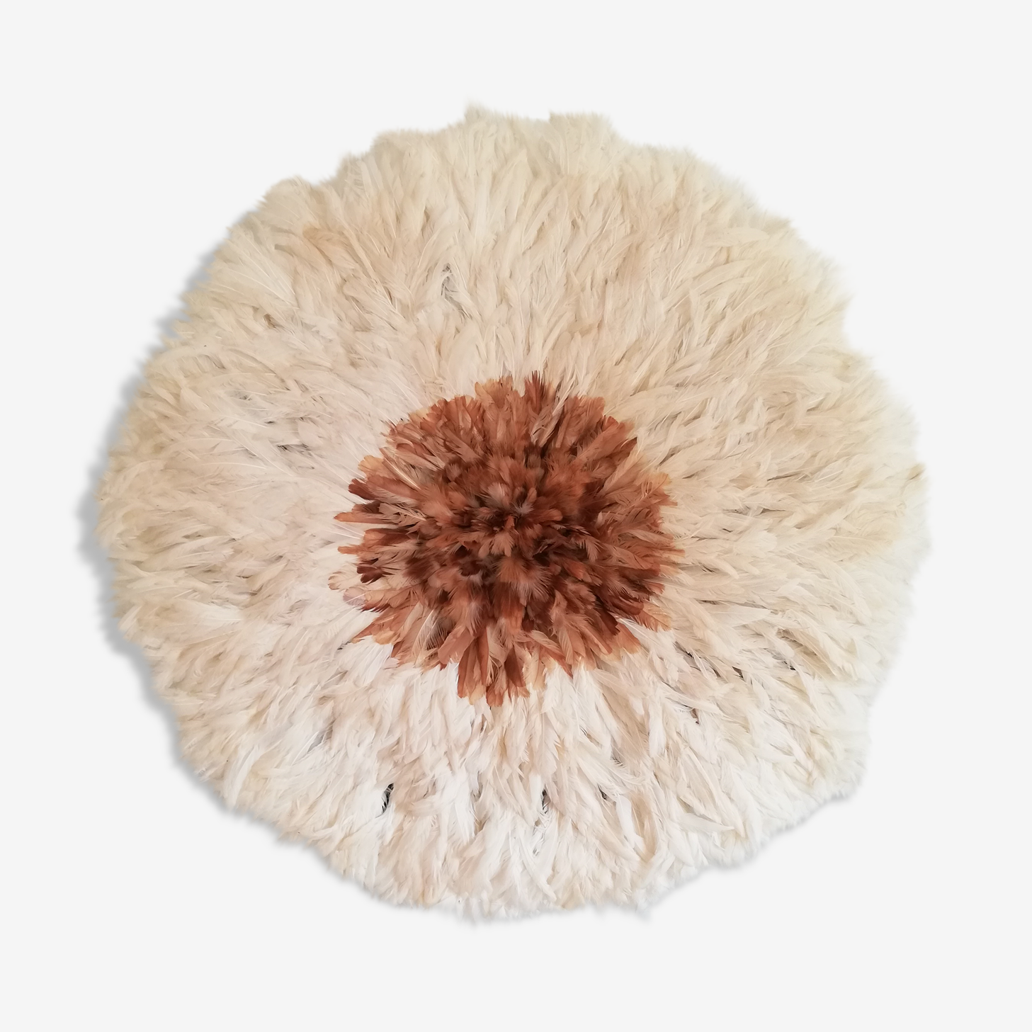 Juju hat white and natural heart 60cm
