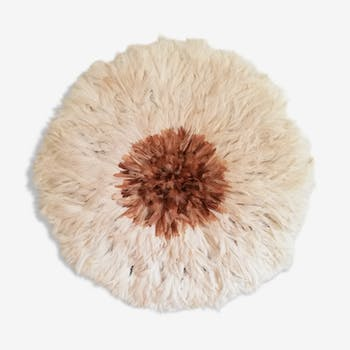Juju hat blanc et coeur naturel 60cm