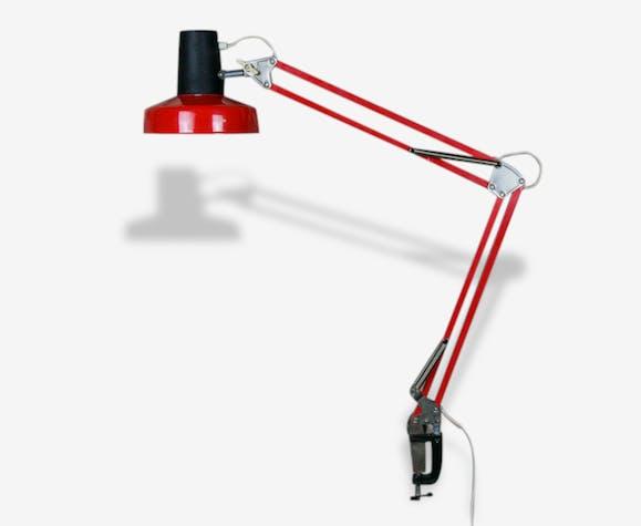 Lampe Architecte Vintage Orange Bureau Industriel Reglable Pince