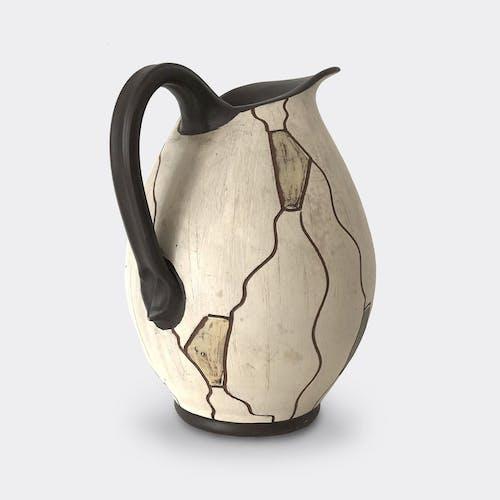Vase Sgraffito des années 50 fabriqué en Italie par Awa