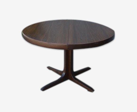 Table Ronde Extensible Avec Un Pied Central Bois Matériau Bois