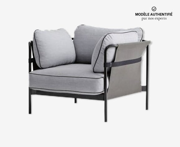 Fauteuil Can gris clair Hay