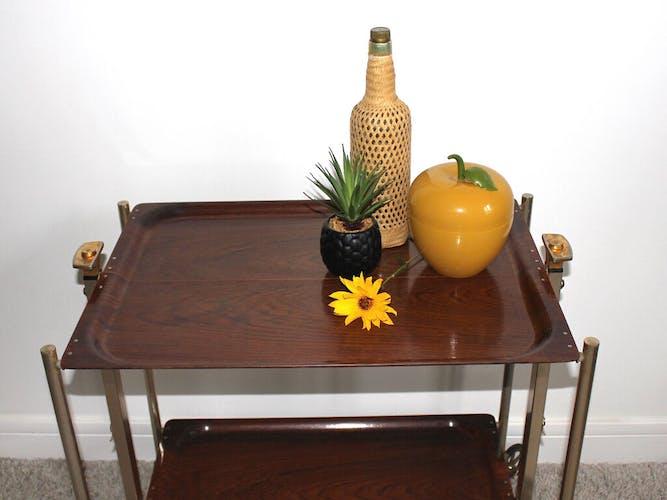 Vintage textable folding table-dessert