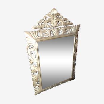 Miroir en bois doré époque Napoléon III 121x78 cm