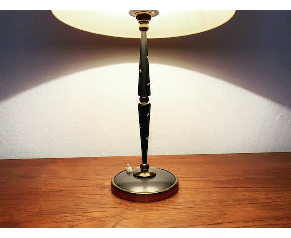 French mid-century modern brass table lamp