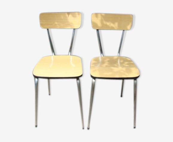 Paire de chaises formica vintage 60