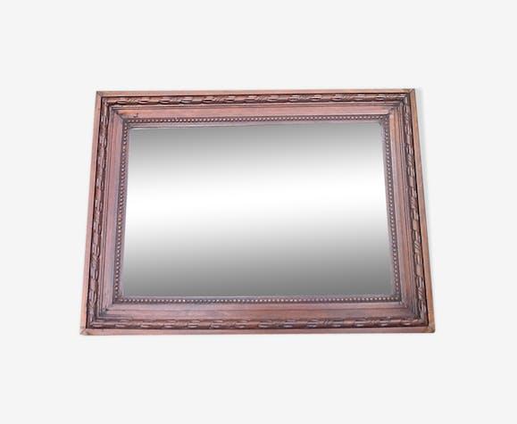 Miroir ancien cadre bois sculpté 44x59cm